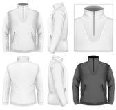 Men's fleece sweater design template Royalty Free Stock Photography