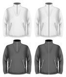 Men's fleece sweater design templates Royalty Free Stock Photos
