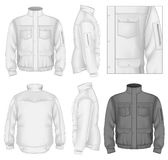 Men's flight jacket design template royalty free illustration