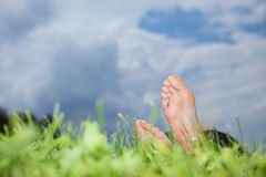 Men's foot Stock Photography