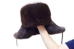 Men's Fur Hat Royalty Free Stock Photography