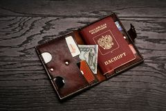 Men`s genuine leather accessories stock photography