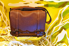 Men's genuine leather shoulder bag Royalty Free Stock Images