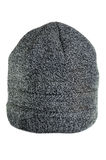 Men's gray knitted cap isolated Stock Photo