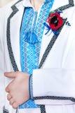 Men's (groom's ) wedding jackets is in the ukrainian style. Royalty Free Stock Image