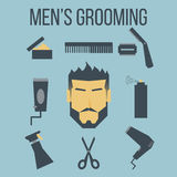 Men's Grooming. Illustration of icon men's grooming graphic design Stock Photography