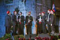 Men's group (klapa) Tragos - Trogir Stock Images
