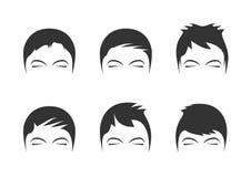 Men's hairstyles Stock Photo