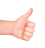 Men's hand doing thumbs up. Stock Images