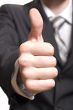 Men's hand make thumbs up Royalty Free Stock Photography