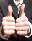 Men's hand make thumbs up Royalty Free Stock Photos