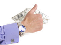 Men's hand with thumb up Royalty Free Stock Photo