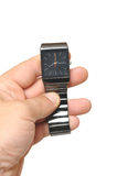 Men S Hand With A Watch Royalty Free Stock Images