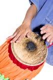 Men's hands beat the drum. (Thai drum stock photography