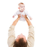 Men's hands hold the baby Royalty Free Stock Photos