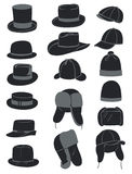 Men's hats Stock Images