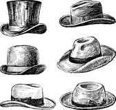 Men's hats. Vector image of the men's hats collection vector illustration