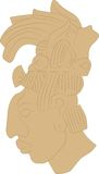 Men's head in the style of the ancient Maya Stock Images
