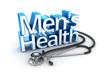 Men's Health text, medicine Royalty Free Stock Images