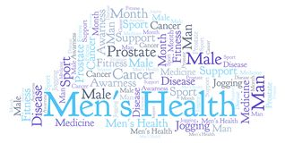 Men's Health word cloud. stock illustration