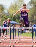 Men's High Hurdles Royalty Free Stock Photos