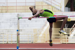 Men's High Jump Action Stock Photography