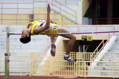 Men's High Jump Action Royalty Free Stock Images