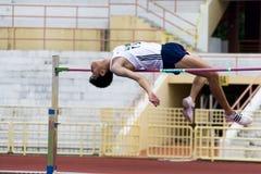 Men's High Jump Action Stock Photos
