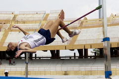 Men's High Jump Action Royalty Free Stock Photo