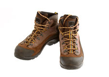 Men's hiking Boots Isolated on White Stock Photos