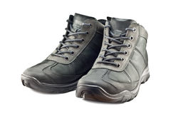 Men's hiking boots Stock Photos