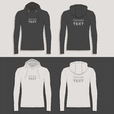 Men`s hoodie design template Stock Photos