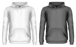 Men`s hoodie stock illustration