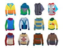 Men's hoodies Stock Images