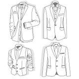 Men`s jacket. Ceremonial men`s suit, tuxedo. Vector. Men`s jacket. Ceremonial men`s suit, tuxedo. Vector illustration Royalty Free Stock Photography