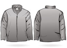 Men's jacket or sweatshirt template Stock Images