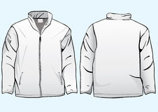 Men's jacket or sweatshirt template Royalty Free Stock Photo