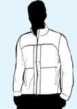 Men's jacket or sweatshirt template Stock Images