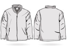 Men's jacket or sweatshirt template with zipper Royalty Free Stock Images