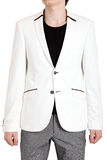 Men's jacket in white, isolated image on a white background. Royalty Free Stock Photos