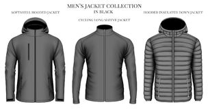 Men`s jackets collection Royalty Free Stock Photo