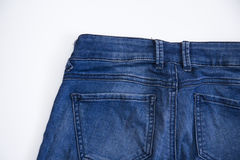 Men`s jeans back Royalty Free Stock Photos
