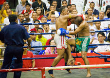 Men's Kick Boxing Action Royalty Free Stock Images