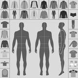 Men`s clothing set Stock Images