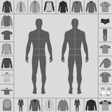 Men`s clothing set Stock Photos