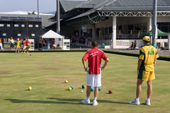Men's Lawn Bowl Action Royalty Free Stock Photos