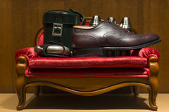 Men's Leather Accessories Stock Photography
