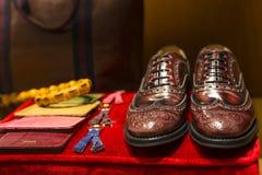 Men's Leather Accessories Stock Photo