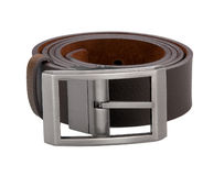 Men leather belt isolated  Royalty Free Stock Images