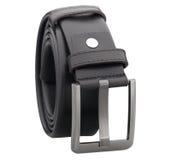 Men leather belt isolated on white  Stock Image